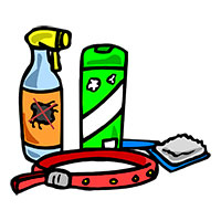 Use sprays, powders and collars